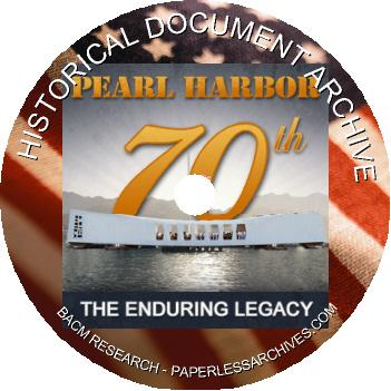 70th Anniversary of Pearl Harbor Attack Document Archive