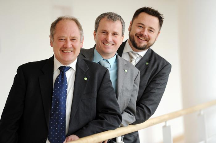 Committed to wind energy for the past 15 years: the three managing directors of BBB Umwelttechnik GmbH (BBB).