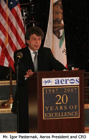 Igor Pasternak, Aeros President and CEO. Source: GroupWeb EmailWire.Com